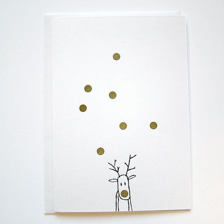 LETTERPRESS Weihnachtskarten RUDOLF by kikisoso on Etsy   – Anleitung selbermachen – #Anleitung #Etsy #kikisoso #LETTERPRESS #Rudolf