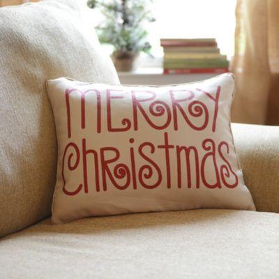 Red Glitz Merry Christmas Pillow | Kirklands
