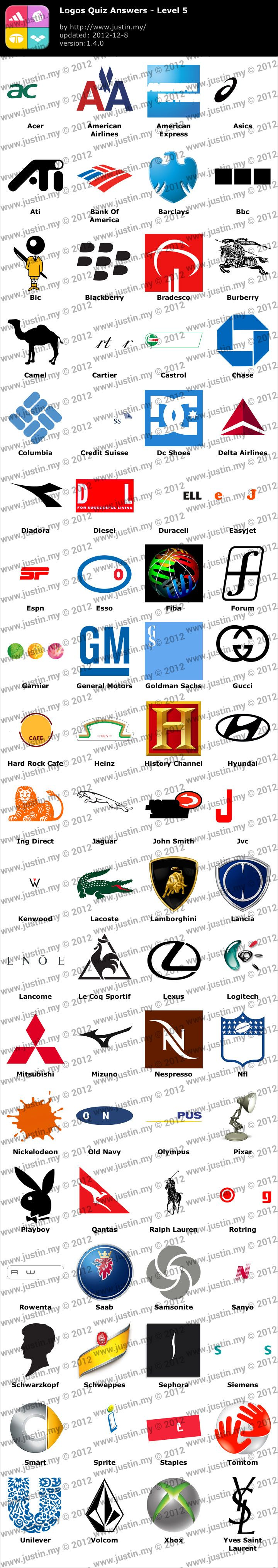 Logo Quiz Answers Level 5 Only Logos Quiz Leve...