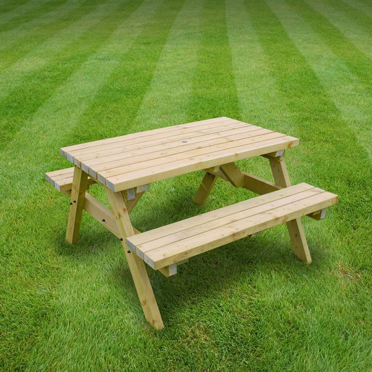 Garden Furniture World Essentials Oakham 4ft Picnic Bench U2013 The UKu0027s No. 1  Garden Furniture