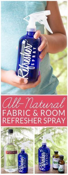DIY Febreeze Room Refresher Spray - Easy, Non-Toxic, All-Natural room and fabric refresher spray. This easy DIY deodorizer eliminates odors all over the house.