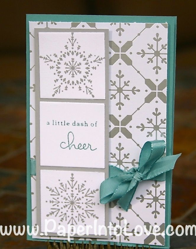 A Little Dash of Cheer handmade card using Stampin' Up's Many Merry Stars and Endless