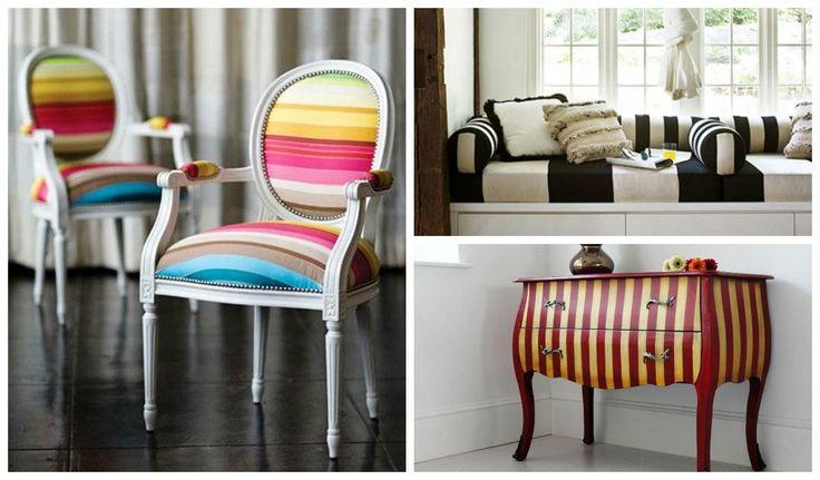 20 Elegant Stripe Furniture Ideas - http://www.homedecoratingdiy.net/20-elegant-stripe-furniture-ideas