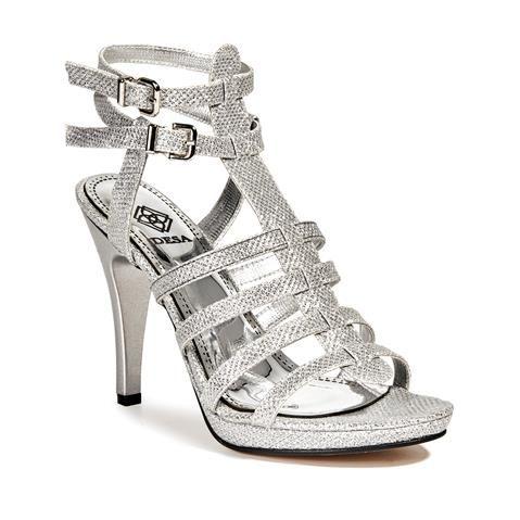 Kadın Abiye Ayakkabı Gümüş - DESA