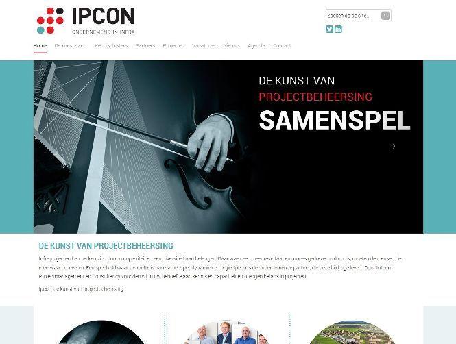 Ipcon is een #bedrijf dat continue bezig is met #projecten. De afgelopen maanden was hun project, hun eigen #website. Het moest #visueel en #dynamisch.