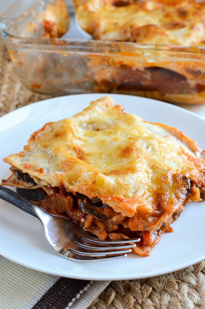 Whether you are vegetarian or just fancy a meatless meal, this Low Syn (Eggplant) Aubergine Lasagne is so delicious even the kids will love it.