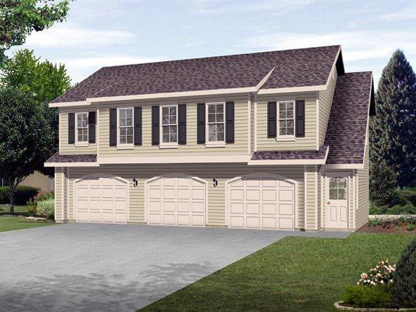 Garage Plan 45120 Elevation