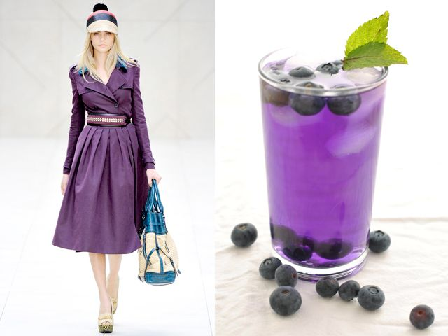 Burberry Prorsum ss 2012 / Lavender and blueberry mojito