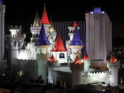 Excalibur Hotel in Las Vegas, NV - Stayed here with 4 of my grandchildren some years ago.  My then 2-year-old granddaughter cried when we left.  She wanted to live in the castle!