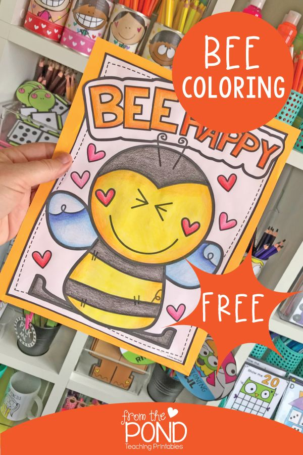 Bee Happy Grab This Free Coloring Sheet From The Coloring Club Today Fun Classroom Activities Classroom Fun Coloring Pages For Boys