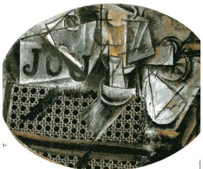 Pablo Picasso Natura morta con sedia impagliata del 1912.JPG