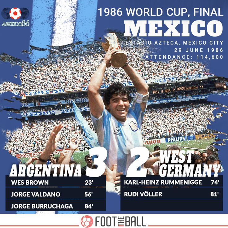 The Thirteenth Edition. 1986. Argentina won 3-2 on 29 June 1986, defeating West Germany in Mexico. . . #Argentina #WestGermany #Germany #Mexico #DiegoMaradona #Maradona #RussianRoulette #Russia2018 #WorldCup2018 #FootTheBall #Russia2018WorldCup #WorldCup #Switzerland #football #soccer #footballer