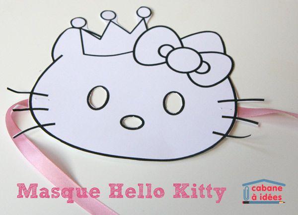 Masque Hello Kitty | La cabane à idées