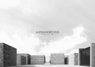 Alessandro Fusi Architect - Portfolio 2016