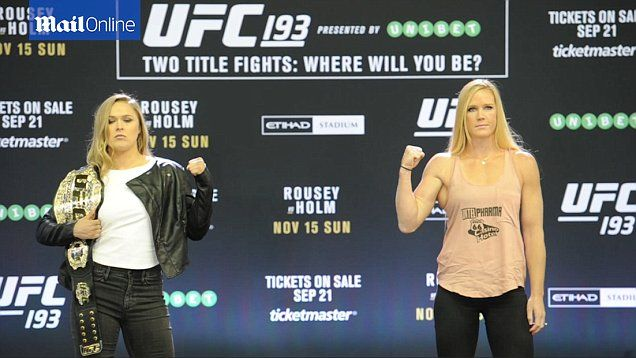 Ronda Rousey announces she's excited to be in Melbourne ahead of the UFC 193 title fight