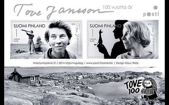 Tove Jansson 100 Years issued by Finland! #stamps #finland #anniversaries http://wopa-stamps.com/index.php?controller=country&action=stampRelatedIssue&id=12701