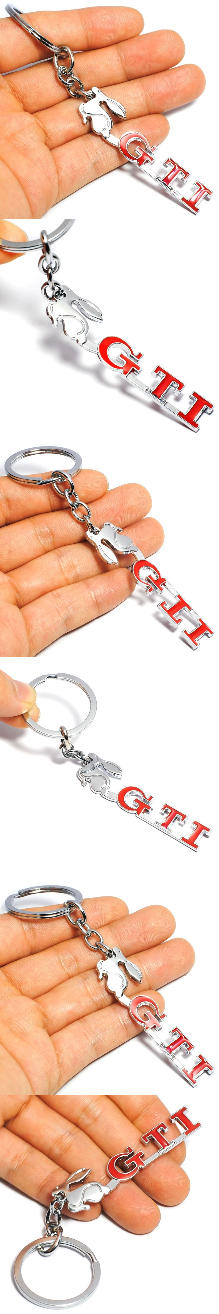 Auto Keyring 3D GTI VW Car Key Ring Chrome Finish Key Chain Fob Ring for Volkswagen Golf 4 5 6 7 Metal GTI Car Styling Keychain