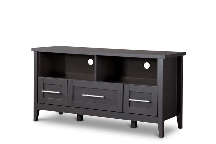 Baxton Studio Espresso TV Stand—Three Drawers