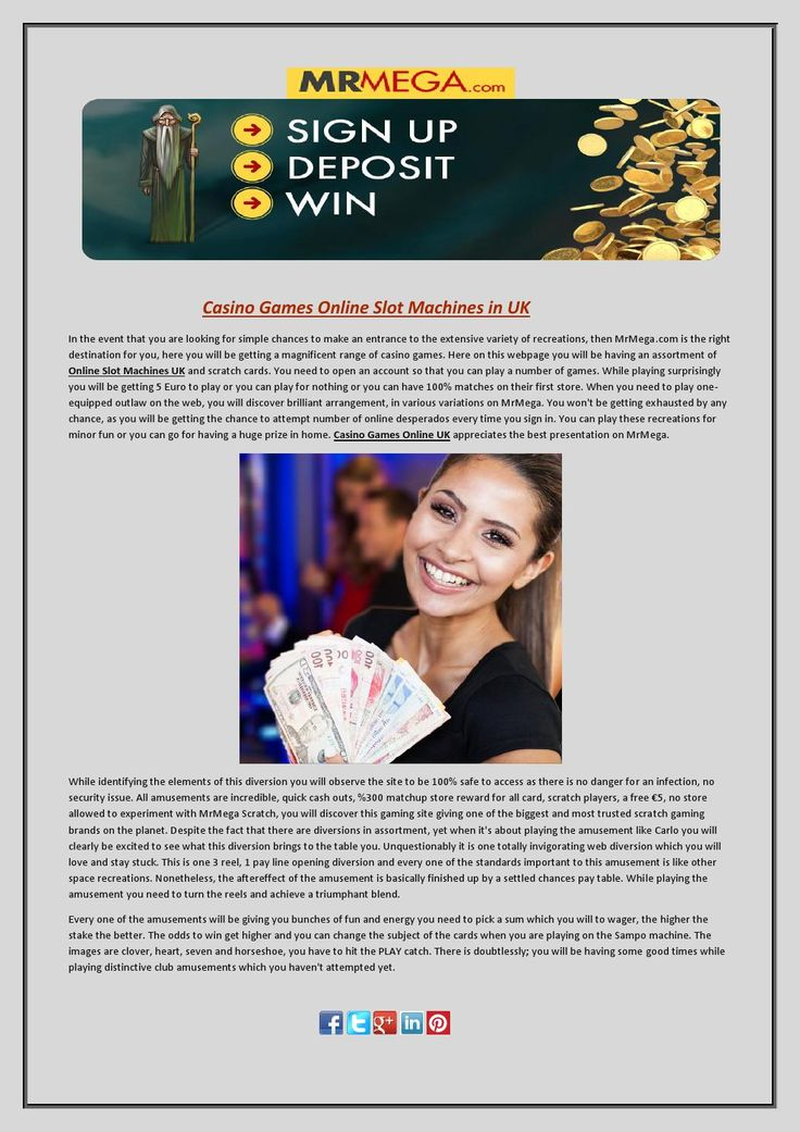 Play free online casino games at MrMega. Join now today and WIN up to £1,000,000! #CasinoGamesOnlineUK #OnlineSlotMachinesUK #OnlineCasinoSlotsUK #LiveOnlineCasinoUK