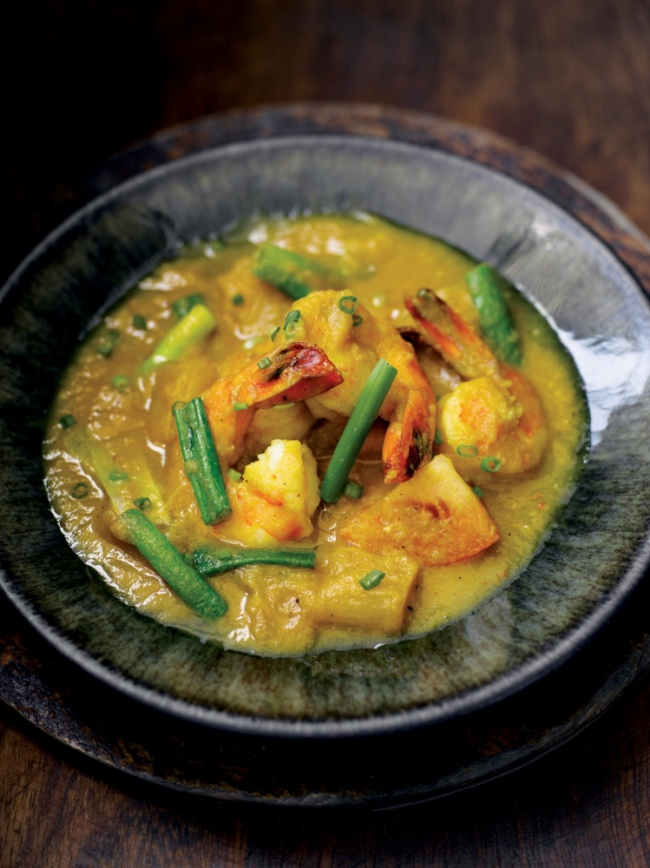 Chef Atul Kochhars recipe for Malaysian prawn and pineapple curry was inspired by his friend Maria Mustafa (Picture: Mike Cooper)