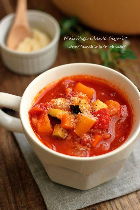 秋の旬の野菜は、甘みがあったり秋ならではの物がたくさん♡そんな野菜をたっぷり摂れる、ぽかぽか温かくなる簡単スープをご紹介致します。