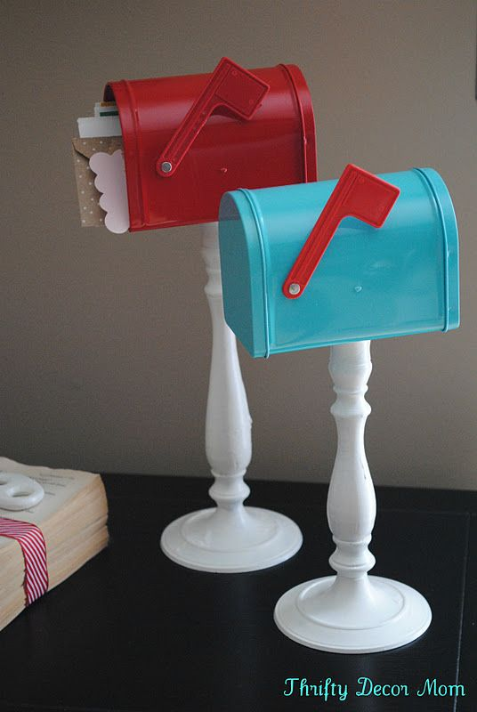 Small Target Mailbox Glued To A Candlestick From Thrifty Decor Mom Valentine 39 S Day Pinterest