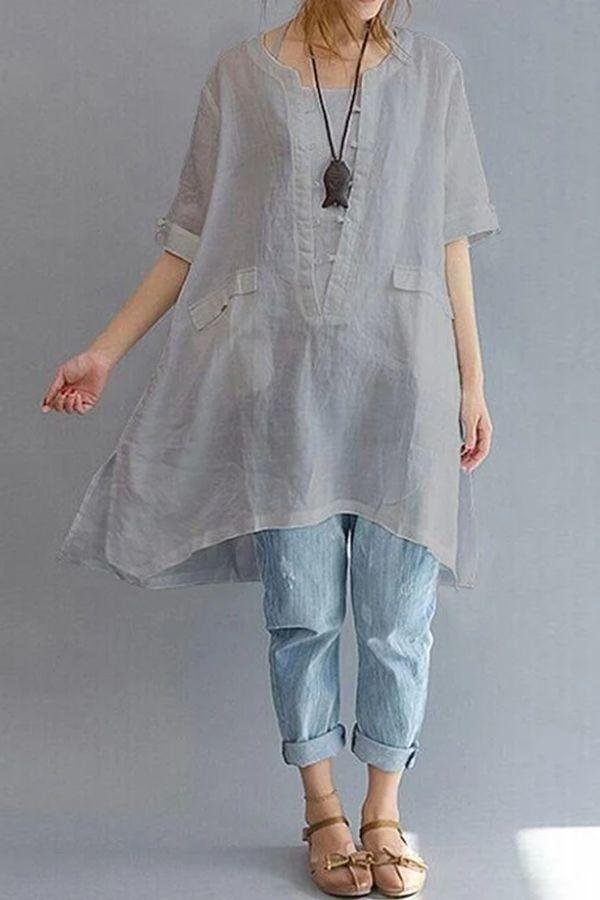 Linen Clothing For Women Sleeve Dress 5