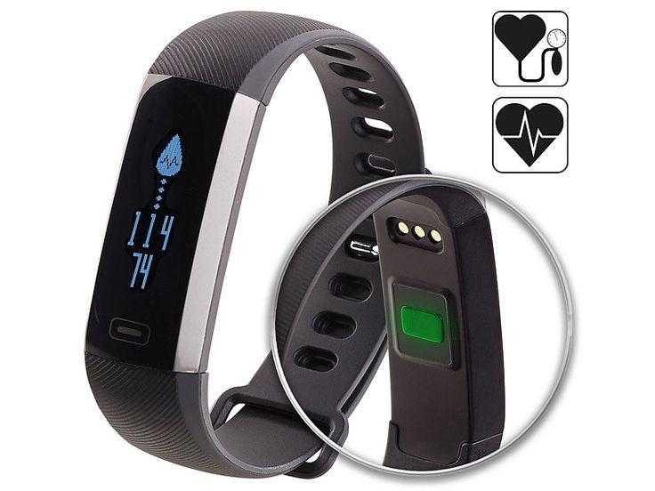 Fitness-Armband, Blutdruck- & Herzfrequenz-Anzeige..