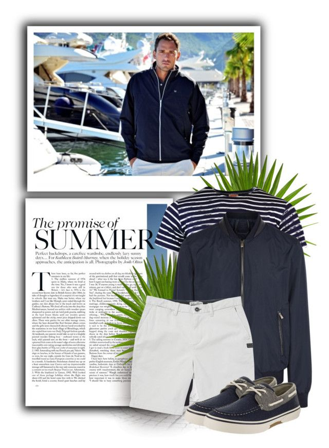 """""""Top-Sider Men's  Boat Shoe"""" by tasha1973 ❤ liked on Polyvore featuring Corneliani, Billabong, Sperry, men's fashion and menswear"""