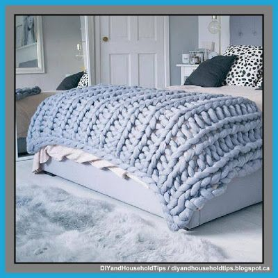 DIY And Household Tips: Oversized Knit Blanket