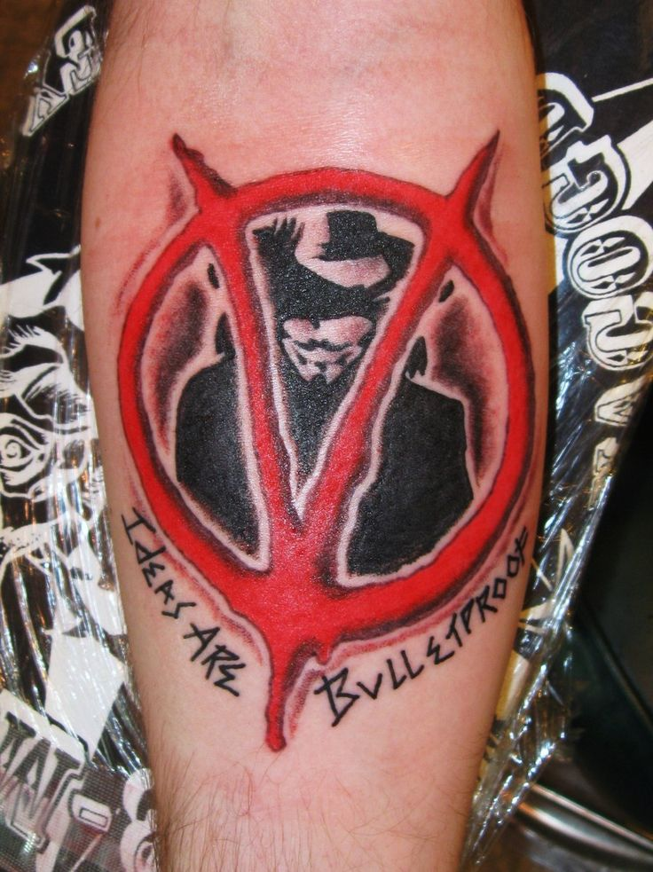Badass V for #Vendetta arm #tattoo