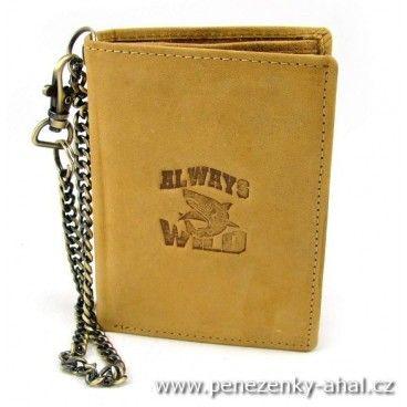 Tuto pánskou koženou peněženku s masivním řetězem vám už nikdo neukradne.