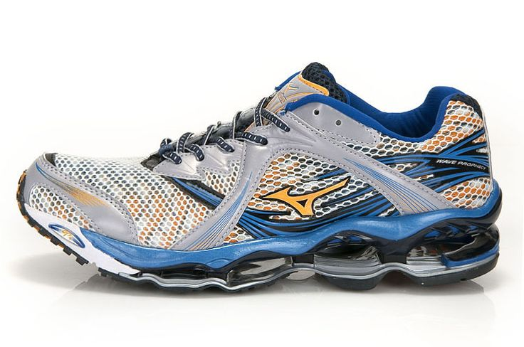 Mizuno Wave Prophecy White Blue Mens Shoes