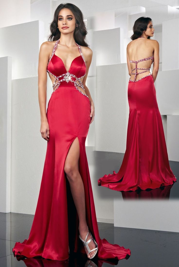 Red Lace Prom Dresses 2013