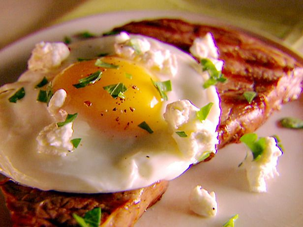 Grilled Tuscan Steak with Fried Egg & Goat Cheese
