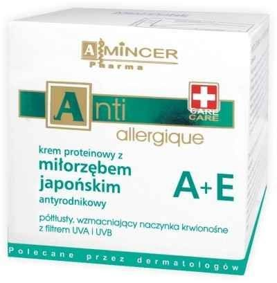 Amincer Pharma Anti Allergique Antiradical Japanese Ginkgo Biloba A+E Protein Cream, 1.69 Oz. by Amincer Pharma Poland. $41.23. New Original Boxed Amincer Pharma Anti Allergique Antiradical Japanese Ginkgo Biloba A+E Protein Cream Semi-rich, strengthening capillary vessels with UVA/UVB Filter (people over 30+ with dilated capillaries skin problems)/ Highly Recommended by Dermatologists. POLAND. Amincer Pharma Anti Allergique Antiradical Japanese Ginkgo Bilboa A+E...