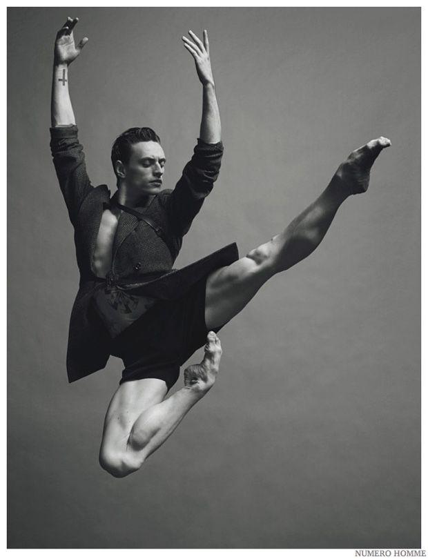 Sergei Polunin Dances for Numéro Homme Fashion Shoot