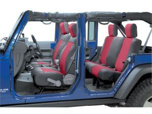 Smittybilt Front Neoprene Seat Covers with FREE Rear Cover for 08-12 Jeep® Wrangler Unlimited JK 4 Door
