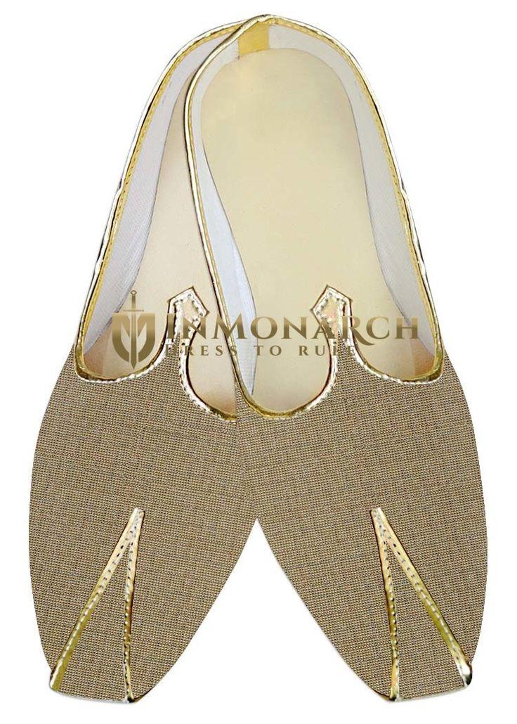 Mens Wine Jute Polyester Wedding Shoes MJ015865