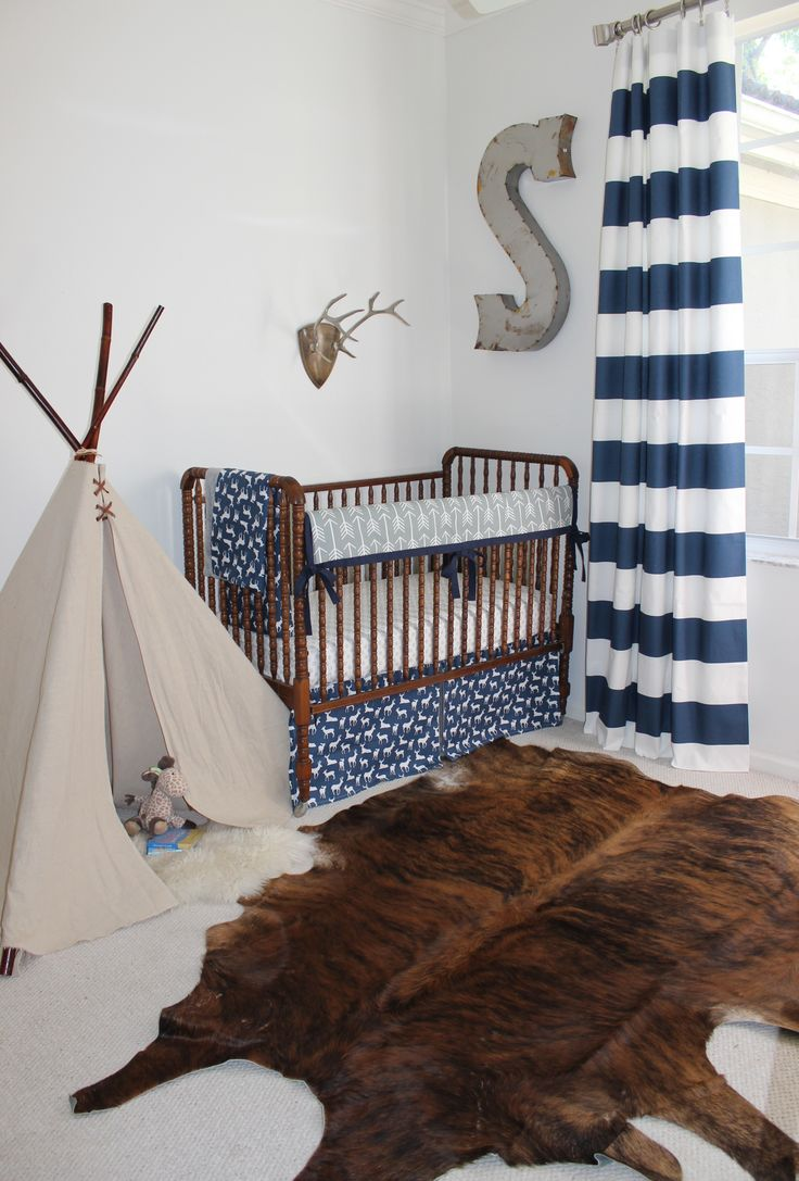 crib navy carousel woodland designs large gray baby bed and boy bedding