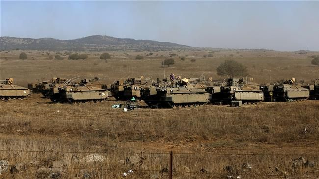 At least three Israeli airstrikes hit positions of the Syrian army on the occupied Golan Heights.