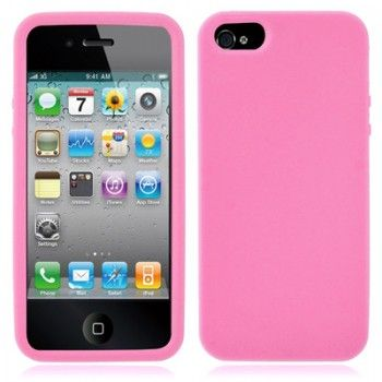 Pure Color Silicon Case for iPhone 5 - Pink