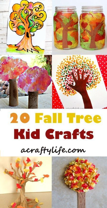 fall tree kid crafts- crafts for kids – amorecraftylife.com Sewing Dreams & Notions – Heather Hamlin