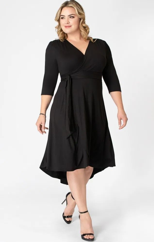 Plus Size Little Black Dress New Styles Of The Classic Lbd In Plus Sizes Short Cocktail Dress Short Sleeve Dresses Little Black Dress