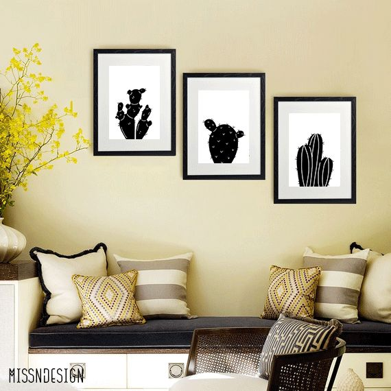 ... Printable Wall Art, Black And White Decor, Modern Wall Decor, Etsy  Business, Etsy Shop, Home Inspiration, Cactus Decor, Cactus Wall Art, Living  Room ... Part 87