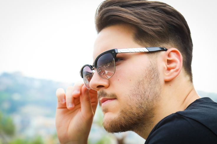 Look Sharp in the Polished Grey Treyca Clubmaster Sunglasses.  #TreycaSunglasses #Sunglasses #Wayfarer #Clubmaster #Wayfarersunglasses #Fashion #Mensfashion #Womensfashion #Clubmastersunglasses #Luxury #Summer