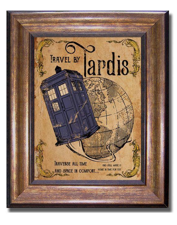 Doctor Who - Tardis Vintage Style affiche - plusieurs tailles - 11 x 14, 8 x 10, 5 x 7, 4 x 6 (pouces)