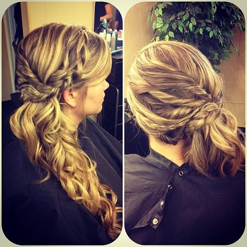 I think Hannah should do this one for wedding!!! @Hannah Cavender     More braid looks here - http://dropdeadgorgeousdaily.com/2013/12/braid-tutorials/
