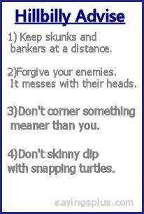 hillbilly advice  And do fry bacon naked!