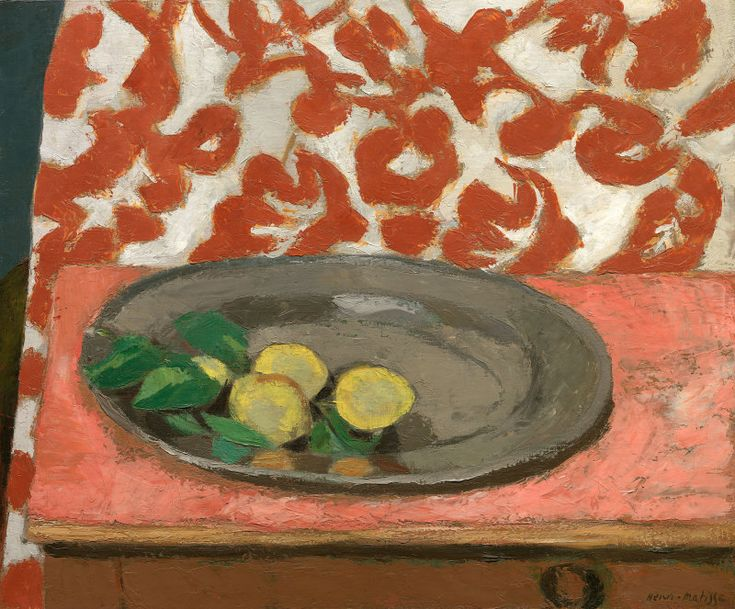 Henri Matisse - Lemons on a Pewter Plate, 1926 (reworked in 1929), Oil on canvas, 21 5/8 x 26 1/8 in. (55.6 x 67.1 cm) | The Art Institute of Chicago